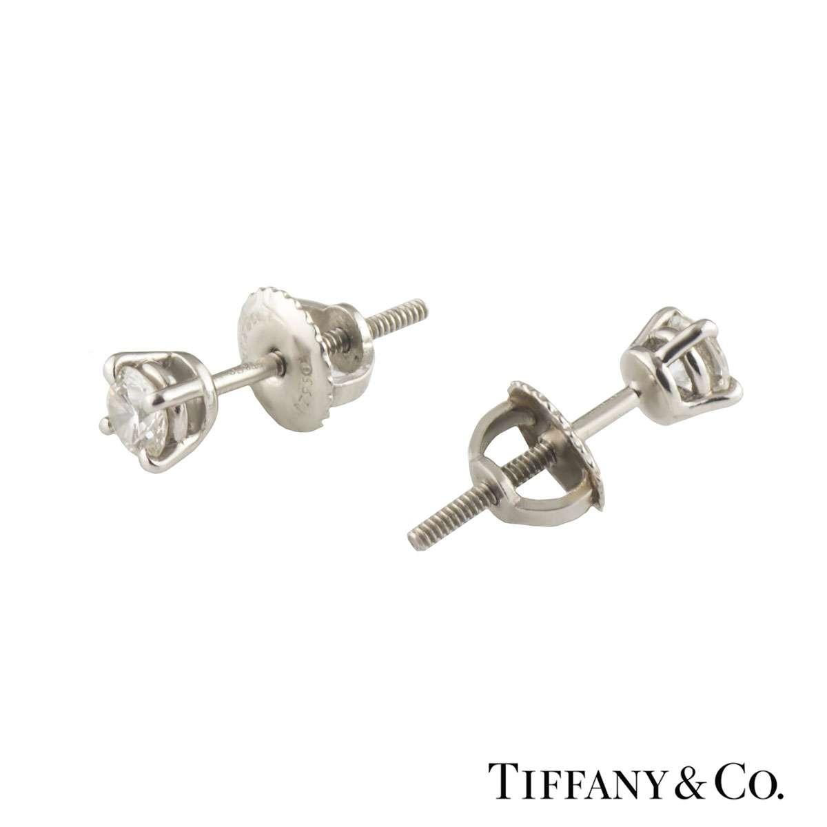 Tiffany & Co. Solitaire Diamond Earrings 0.34ct G/VS